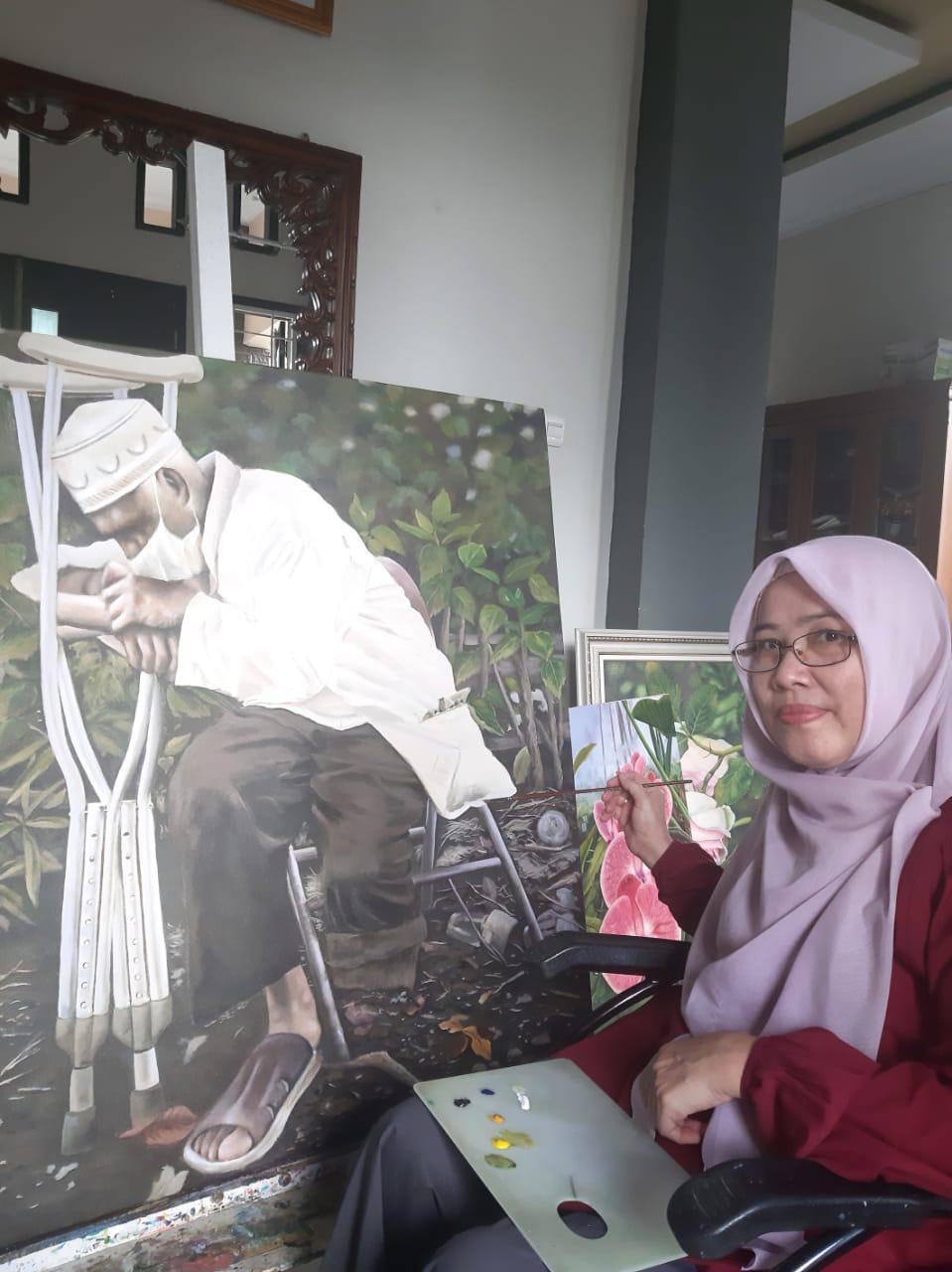 Yuni Daud, Wakili Bengkulu di Pameran Daring Galnasonline.id